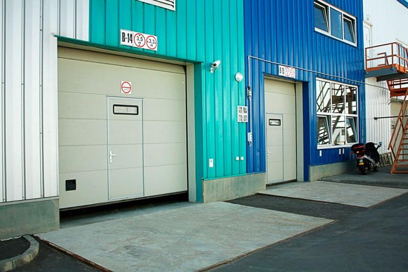 Industrijska sekcijska dvižna vrata